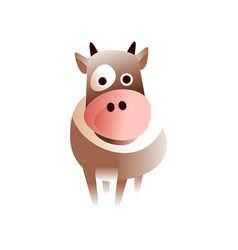 cute cow stylized geometric animal low poly vector image vector image