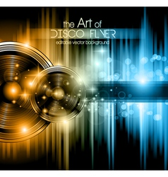 Disco club flyer vector image vector image
