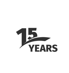 Isolated abstract black 15th anniversary logo on vector
