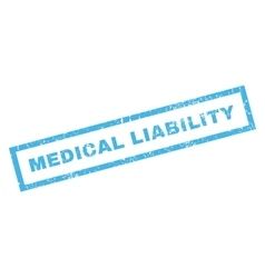 Medical liability rubber stamp vector