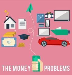 Money problems vector