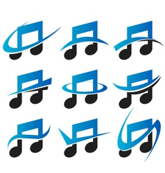 Music Logo Icons vector image vector image
