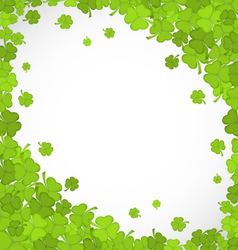 natural frame with clovers for St Patricks Day vector image vector image