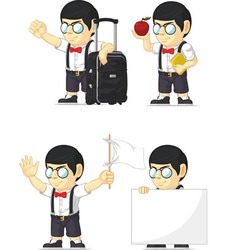 Nerd boy customizable mascot 8 vector
