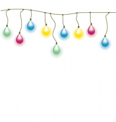 old lamp garland seamless vect vector image