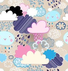 Pattern of clouds and rain vector