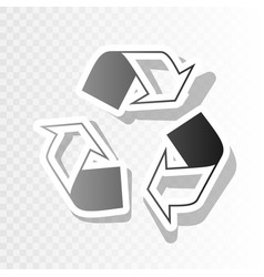 Recycle logo concept new year blackish vector