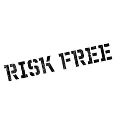 Risk free rubber stamp vector