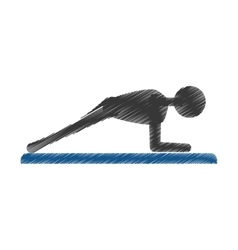 silhouette guy exercising fitness sport vector image vector image