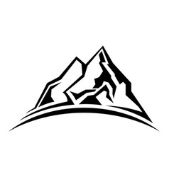 simple mountain silhouette vector image