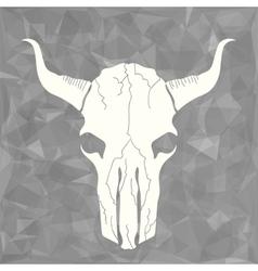 Skull bull vector