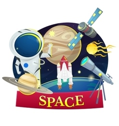 Space concept design vector