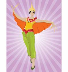 thai dancer vector image vector image
