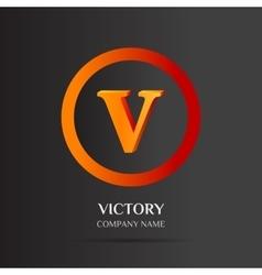 V Letter logo abstract design vector image vector image