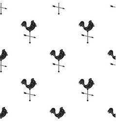 Weather vane icon in black style isolated on white vector