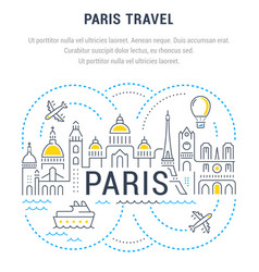 Website banner and landing page paris travel vector