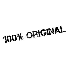 100 percent original rubber stamp vector
