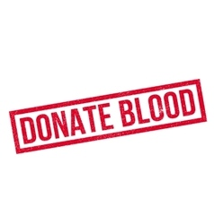 Donate blood rubber stamp vector