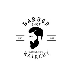 vintage barber shop logo for your design vector image