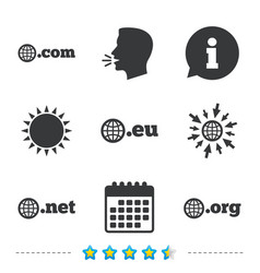 top-level domains signs com eu net and org vector image