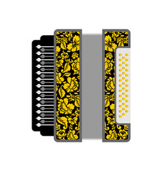 Accordion isolated russian national folk musical vector