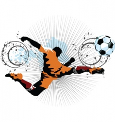 Football player in attack vector