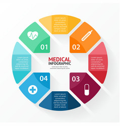 Medical plus sign healthcare hospital infographic vector