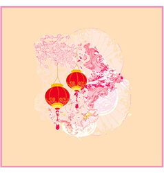 Chinese new year card vector