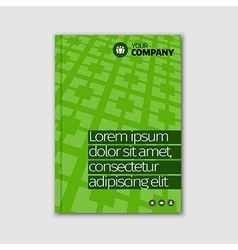 Green business design with headline and pattern vector image