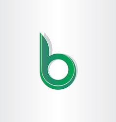Green letter b stylized symbol vector