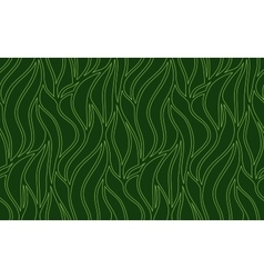 Seamless wave background of plants drawn vector