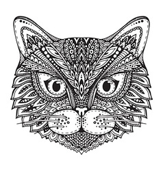Hand drawn ornate doodle graphic black and white vector