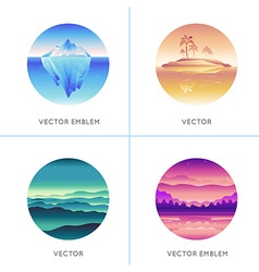 Abstract logo design templates vector