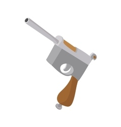 German pistol icon cartoon style vector