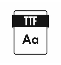 Ttf file icon icon simple style vector