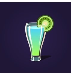 Kiwi cocktail vector