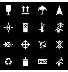 White marking of cargo icon set vector