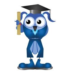 Graduation woman vector