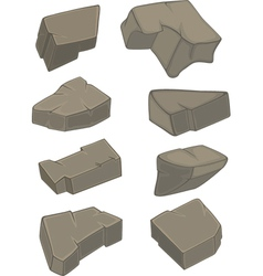 A set of stones vector
