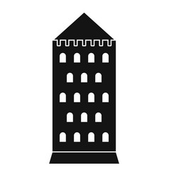 Ancient building icon simple style vector