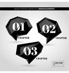 Black Crystal Frame Set vector image