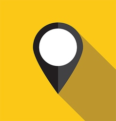 Black map pointer icon vector