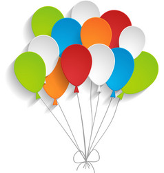 Bright paper balloons vector