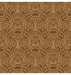 Brown seamless vector image vector image