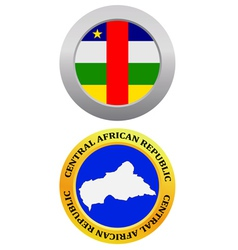button as a symbol map CENTRAL AFRICAN REPUBLIC vector image