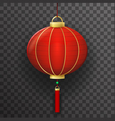 chinese paper lantern sign transparent background vector image