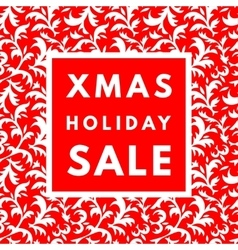 Christmas holiday sale poster vector