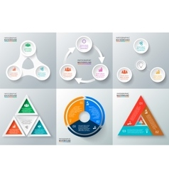 Circle elements set for infographic vector