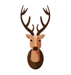 Deer head icon cartoon style vector