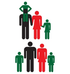 Family icons man woman and children vector